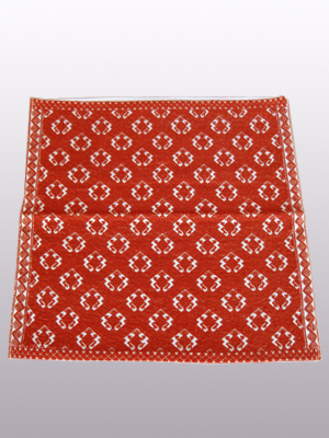 MEXICAN TEXTILES / Handwoven pillow cover - Toads in Terra Cotta Red